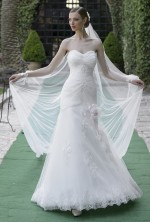 WEDDING DRESS DRAPED